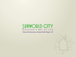 SUWORLD CITY DISCOVER A WAY OF LIFE