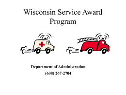 Who Runs the Wisconsin Service Award Program?