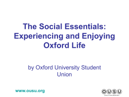 The Social Essentials - University of Oxford