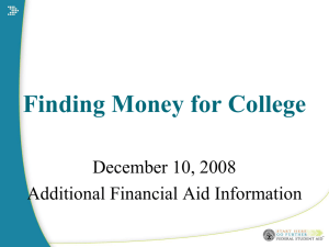 Federal Financial Aid PowerPoint