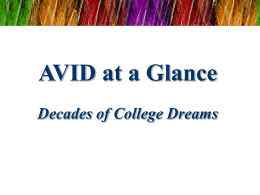 AVID at a Glance Decades of College