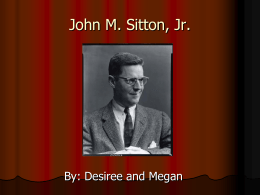 John M. Sitton, Jr. - Greenville County School District