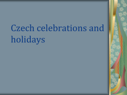 Czech celebrations and holidays