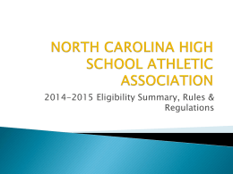 nchsaa eligibility - North Carolina High School Athletic Association