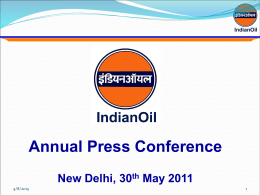PRESENTATION NAME - Indian Oil Corporation Limited
