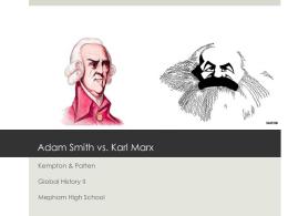 adam smith vs karl marx economics