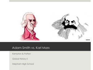 Marx vs. Smith
