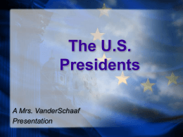 U.S. Presidents  - New Lenox School District 122