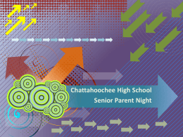 Chattahoochee High School Senior Parent Night