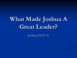 The Great Leadership Qualities Of Joshua