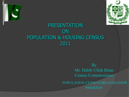 4. Presentation on Population Census Statistics by
