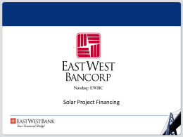 Don Danh, East West Bank - International Solar Energy Technology