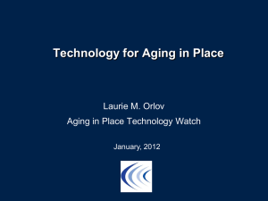 Technology for Aging in Place - Long Term Care Discussion Group