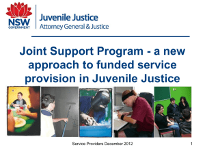 a new approach to funded service provision in Juvenile Justice