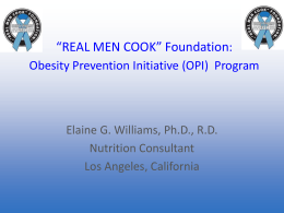 Read Me - Real Men Cook Foundation