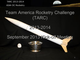 2014 - AIAA OC Rocketry