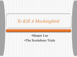 Author and Scottsboro Trial PowerPoint