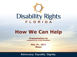 Disability Rights - Florida Guardian ad Litem