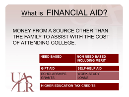 Financial Aid Powerpoint - Little Rock Christian Academy