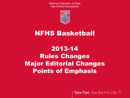 manual changes - North Carolina High School Athletic Association