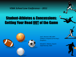 Student-Athletes & Concussions - Virginia School Boards Association