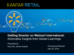 Getting Smarter on Walmart International