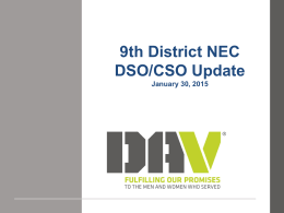 2015 9th District NSO presentation