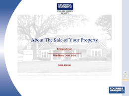 Coldwell Banker Works PPT Template
