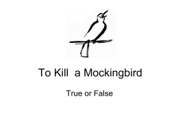 To Kill a Mockingbird - The Communication Trust
