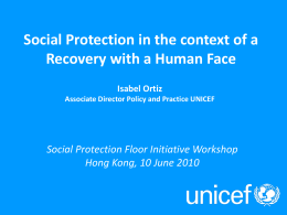7. Social Protection in the context of a recovery with a human face