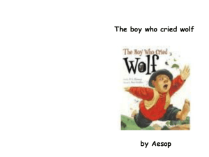 Big book the boy who cried wolf
