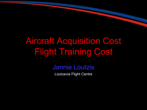Aircraft Acquisition Cost Flight Training Cost