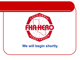 FHA-HERO: The California Affiliate of FCCLA