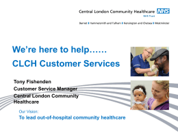 here - Healthwatch Central West London