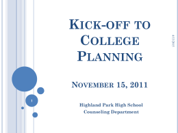 kick-off to college planning