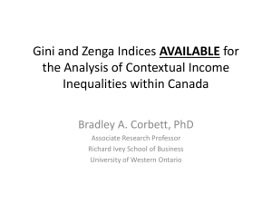 Developing Gini and Zenga Indices for the Analysis