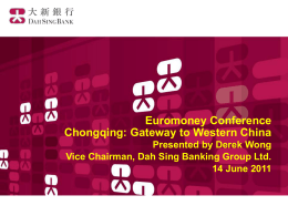 Bank of Chongqing - Euromoney Conferences