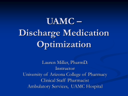 Lauren Miller - Arizona Pharmacy Association