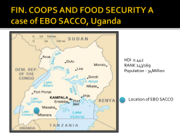 Kazooba FINANCIAL COOPS AND FOOD SECURITY A - e-MFP