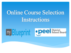 Course Selection Process Dec 2013 - Powerpoint