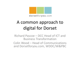 A common approach to digital for Dorset