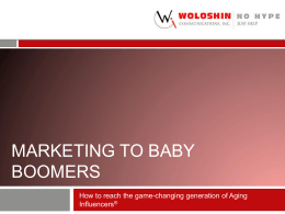 Marketing to Aging Influencers