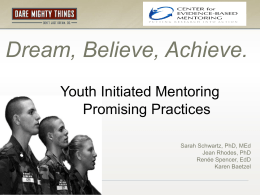 Presentation Materials - National Mentoring Partnership