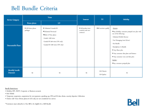 Bell Bundle Eligibility Chart on Feb, 2012