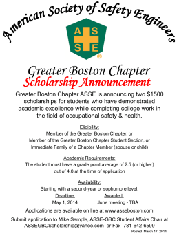Info - ASSE Boston Chapter