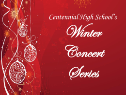 File - Centennial High School Music Department