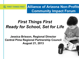Who is First Things First? - Alliance of Arizona Nonprofits