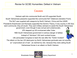 Defeat in Vietnam PowerPoint