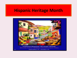 Hispanic Heritage Month - Florence School District One
