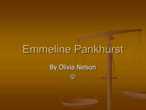Emmeline Pankhurst - Fairview Primary School